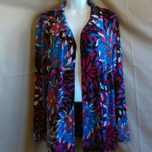 Chico's Top 3 slinky travel knit Open cardigan XL
